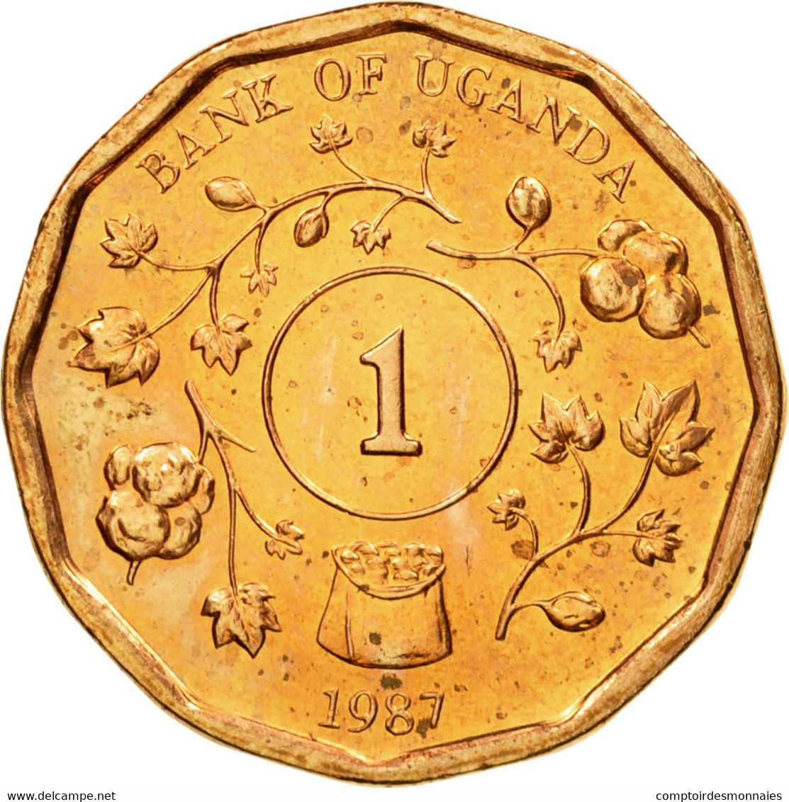 Monnaie, Uganda, Shilling, 1987, TTB, Copper Plated Steel, KM:27 - Ouganda