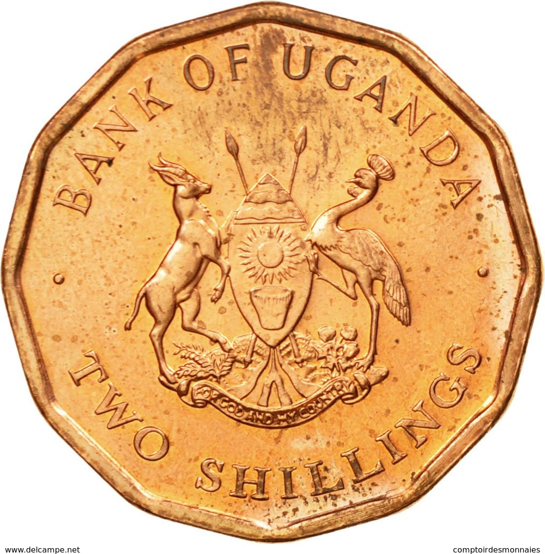 Monnaie, Uganda, 2 Shillings, 1987, TTB, Copper Plated Steel, KM:28 - Ouganda