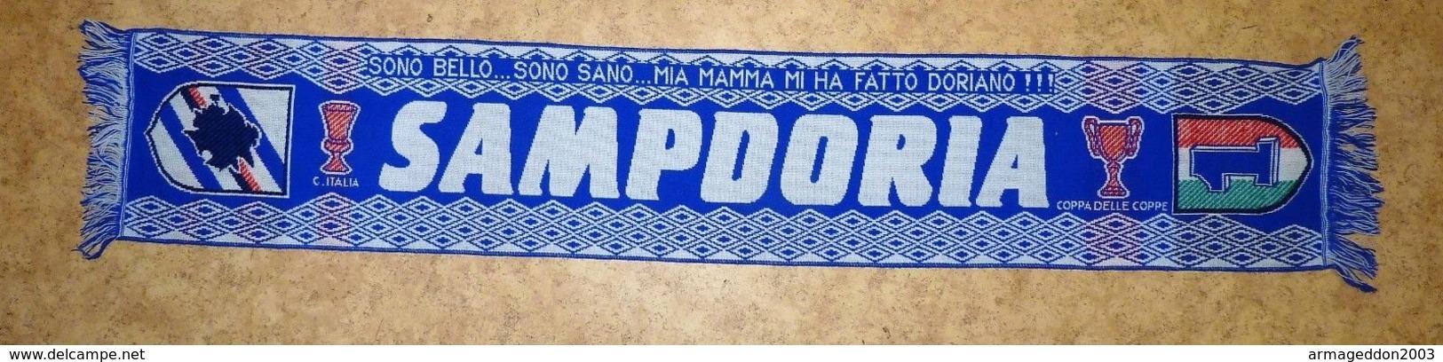 VINTAGE VERITABLE ECHARPE FOOTBALL ITALIE SAMPDORIA - Habillement, Souvenirs & Autres