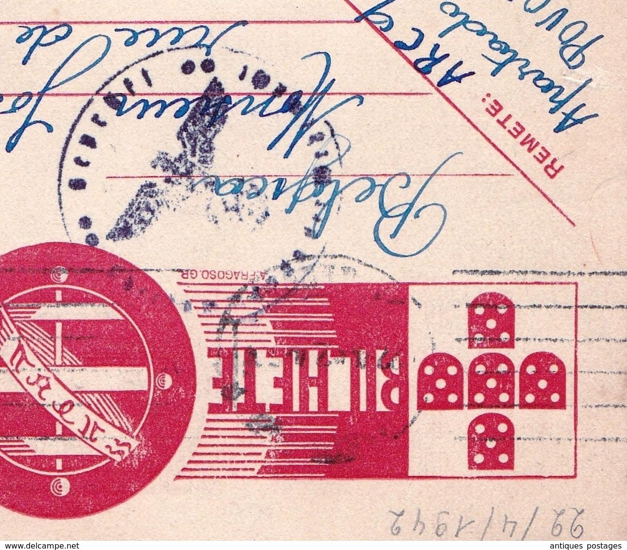 Carte Postale Póvoa De Santa Iria Portugal 1942 Censure Censor Seconde Guerre Mondiale WW2 - Lettres & Documents
