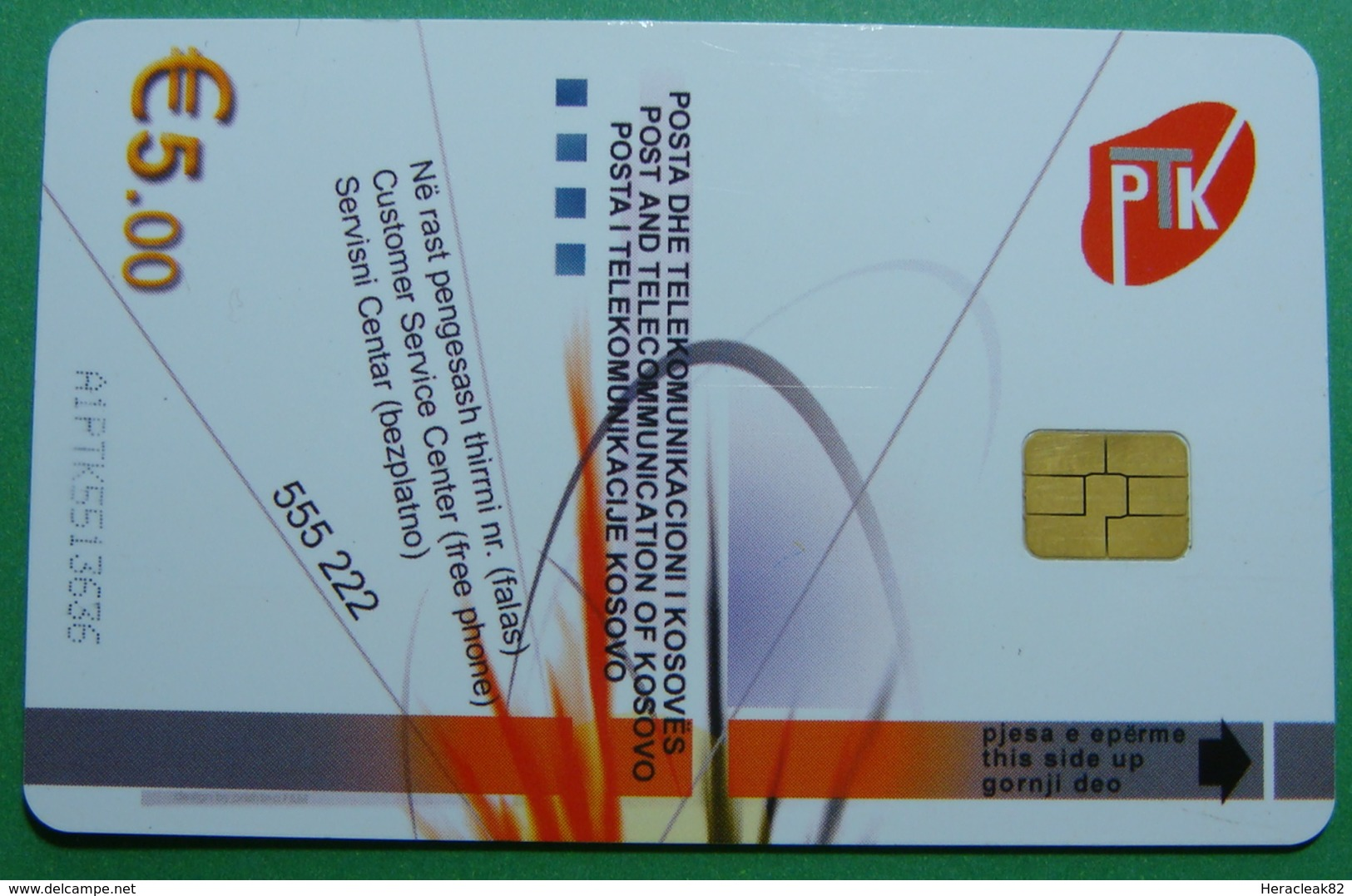 Kosovo CHIP Phonecard, 5 Euro. Operator VALA, *Brezovica*, RARE - Kosovo