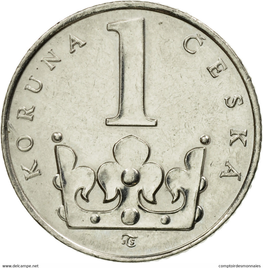 Monnaie, République Tchèque, Koruna, 1994, TTB, Nickel Plated Steel, KM:7 - Tchéquie