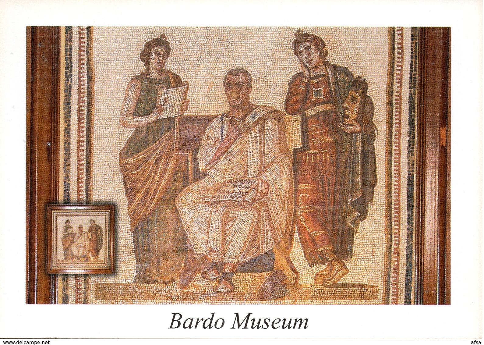 Mosaîques Romaines (Virgile Et Les 2 Muses) Musée Du Bardo - Tunisia
