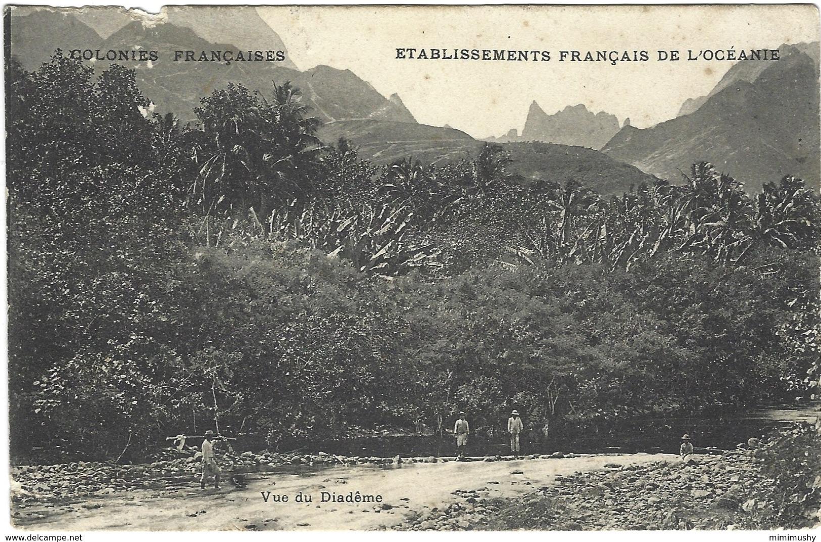 Etablissements Français De L'océanie - Vue Du Diadême - Polynésie Française