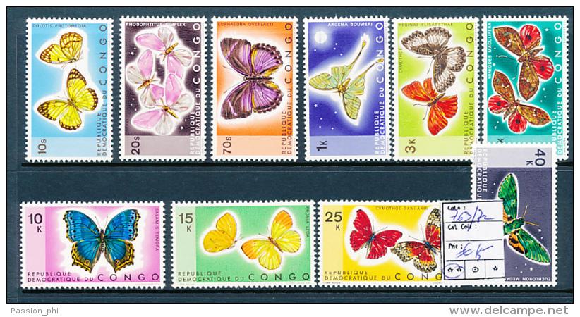CONGO KINSHASA BUTTERFLIES COB 763/772 MNH - Neufs