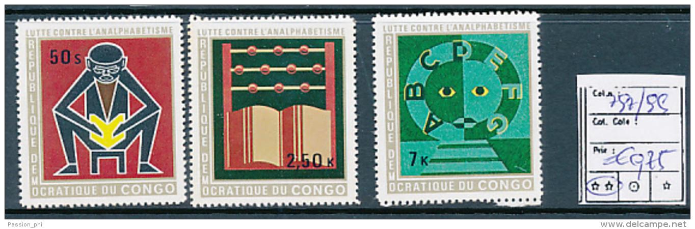 CONGO KINSHASA COB 797/799 MNH - République Démocratique Du Congo (1964-71)