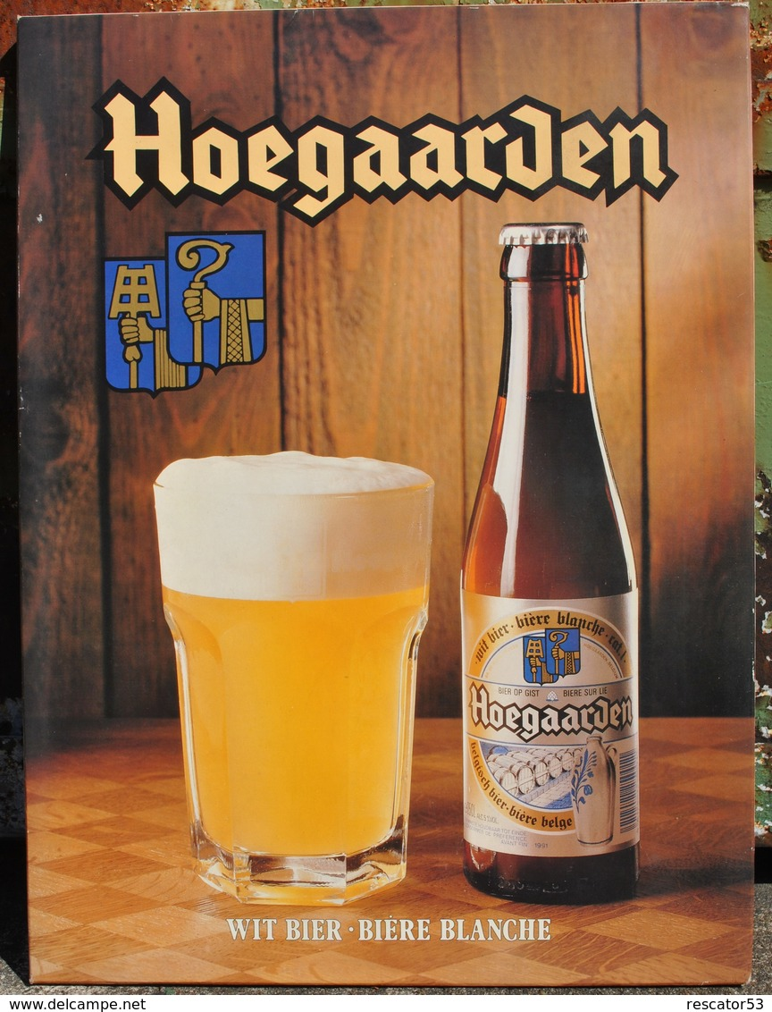 Rare Plaque En Carton Pour La Bière Hoegaarden - Plaques En Carton