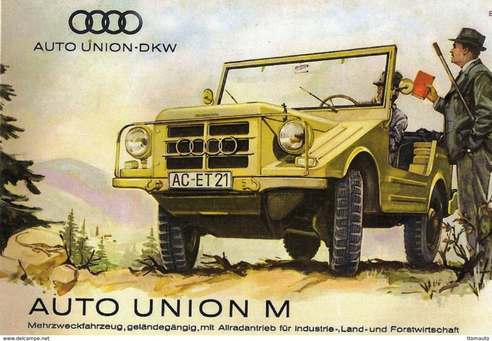 Auto Union-DKW Modèle M  -  Publicité  -  CPR - Grand Prix / F1