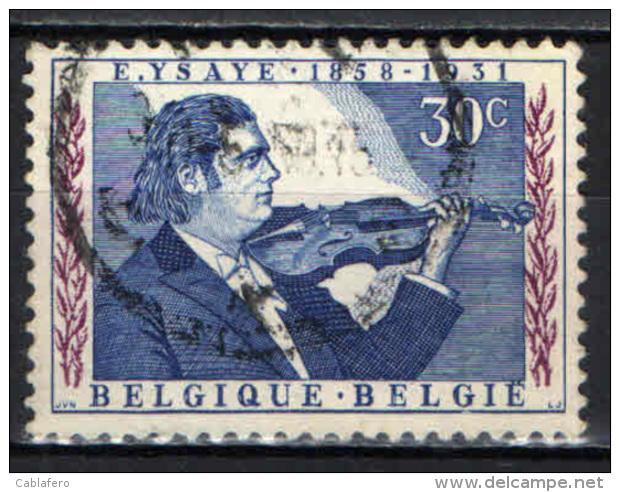 BELGIO - 1958 - EUGENIO YSAYE - VIOLINISTA E COMPOSITORE - USATO - Oblitérés