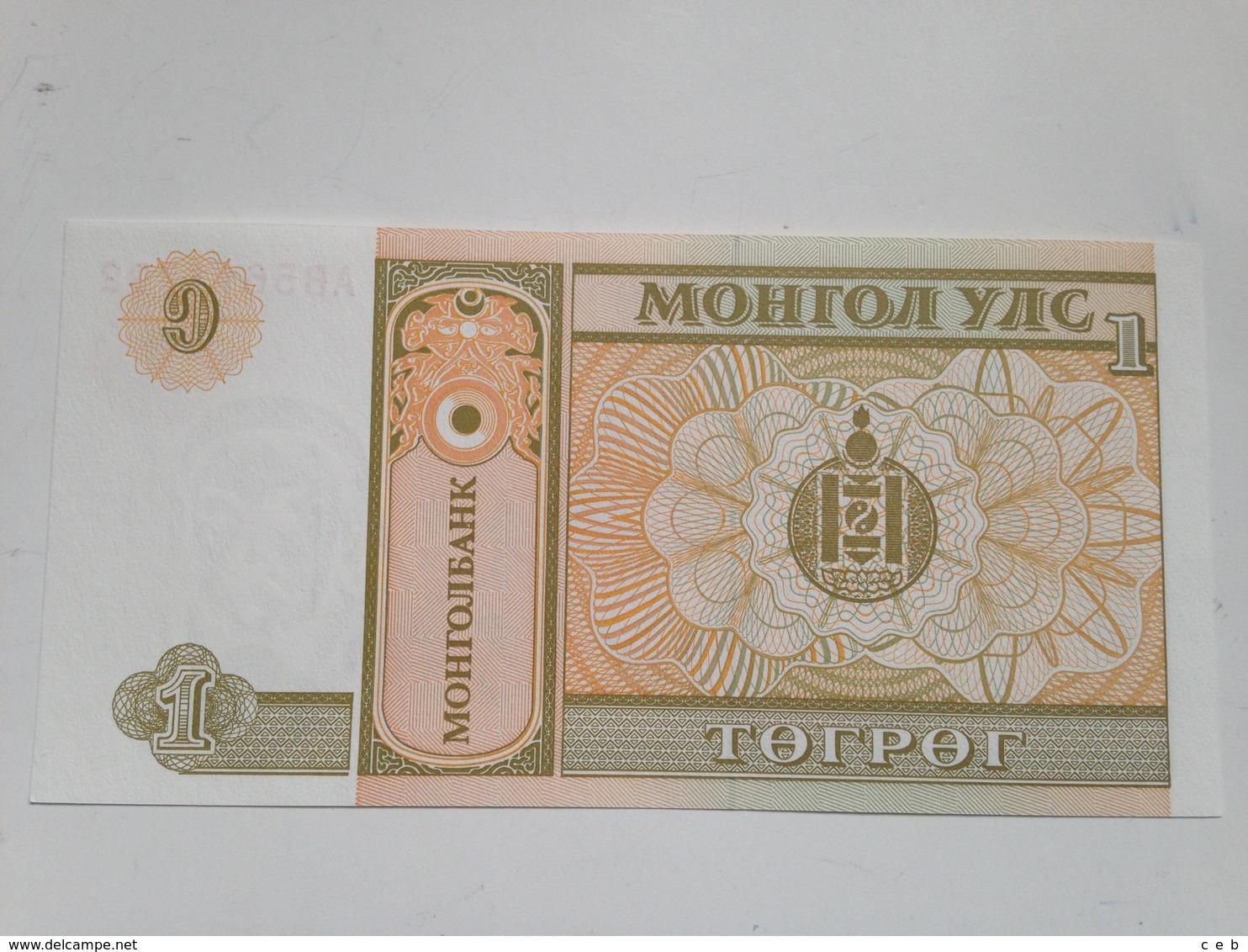 Billete Mongolia. 1 Tugrik. 1993. Sin Circular - Mongolia