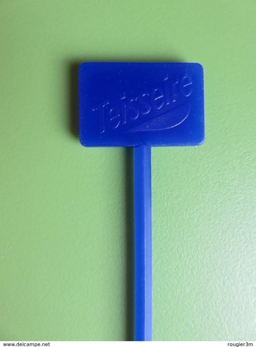 202 - Touilleur - Agitateur - Mélangeur à Boisson - Sirop Teisseire Bleu - Swizzle Sticks