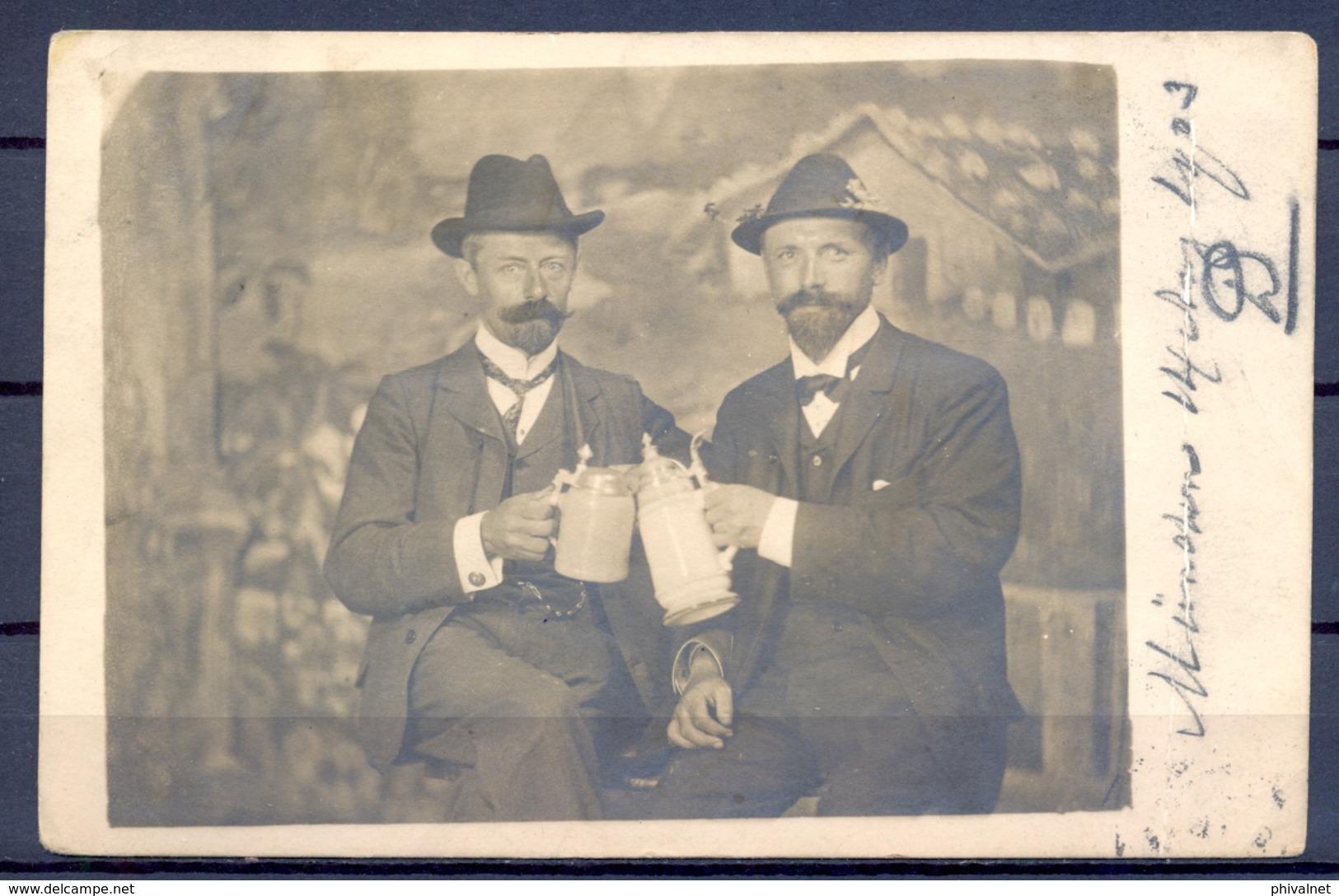 1903 ALEMANIA  , TARJETA POSTAL CIRCULADA , CERVEZA , BREWERIANA , BEER , BAVIERA , FOTOGRÁFICA - Fotografía