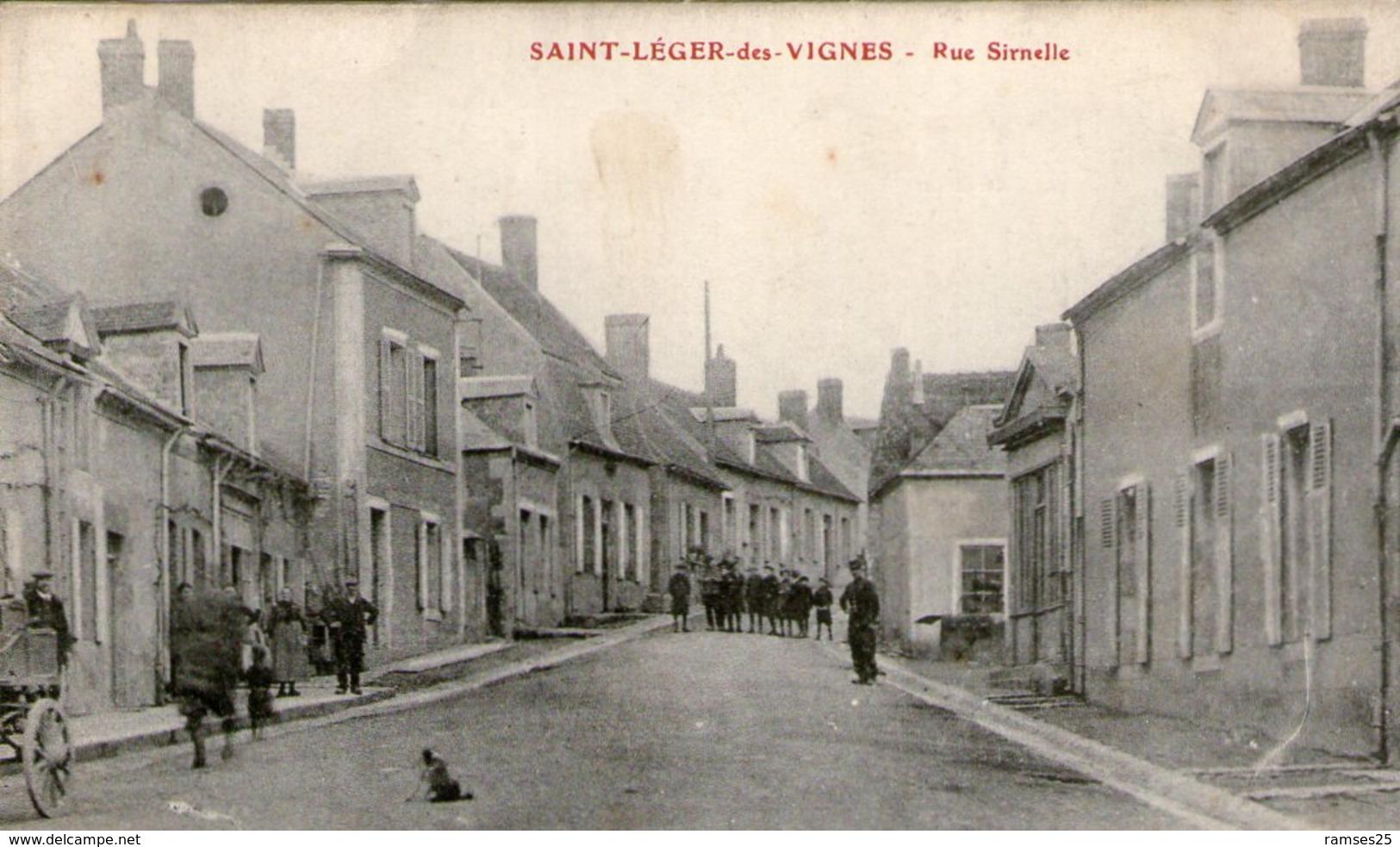 (74) CPA  Saint Leger Des Vignes  Rue Sirnelle   (Bon état) - France