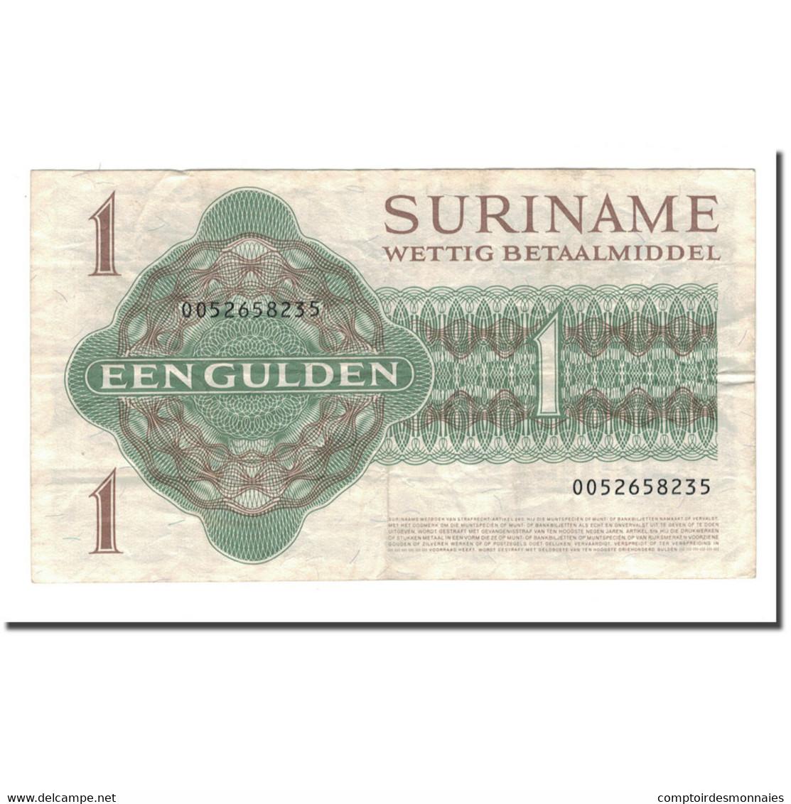 Billet, Surinam, 1 Gulden, 1961-1986, 1984-12-01, KM:116h, TB - Surinam