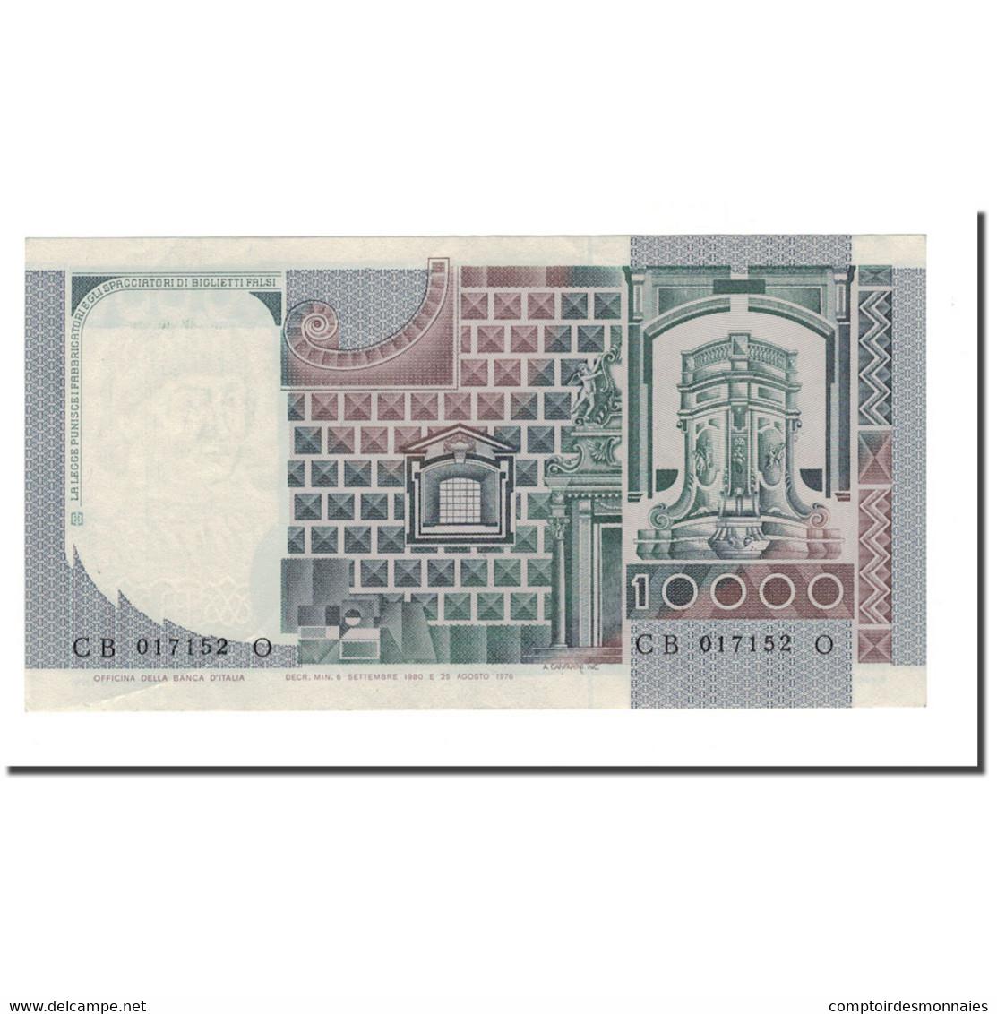 Billet, Italie, 10,000 Lire, 1976-1984, 1980-09-06, KM:106b, TTB+ - [ 2] 1946-… : République