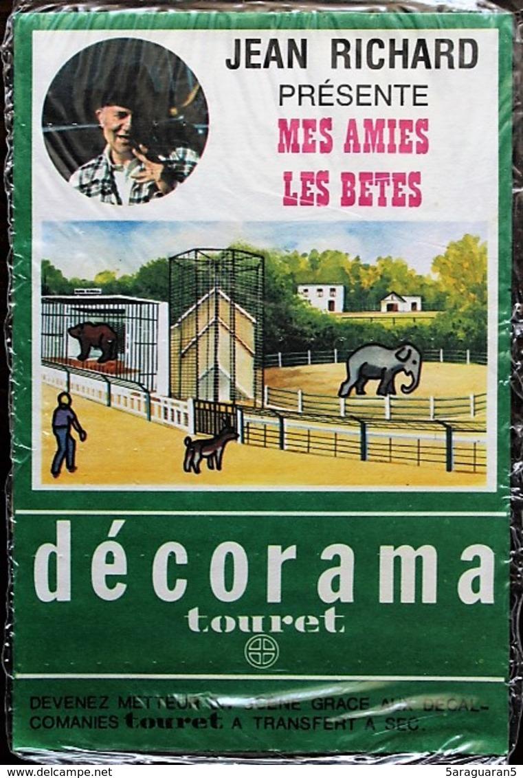 DECORAMA DECALCOMANIES TRANSFERT TOURET - Jean Richard - Mes Amies Les Bêtes - Old Paper