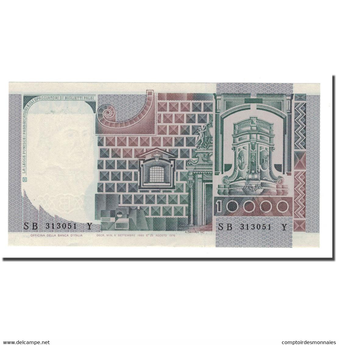 Billet, Italie, 10,000 Lire, 1976-1984, 1980-09-06, KM:106b, SPL - [ 2] 1946-… : République