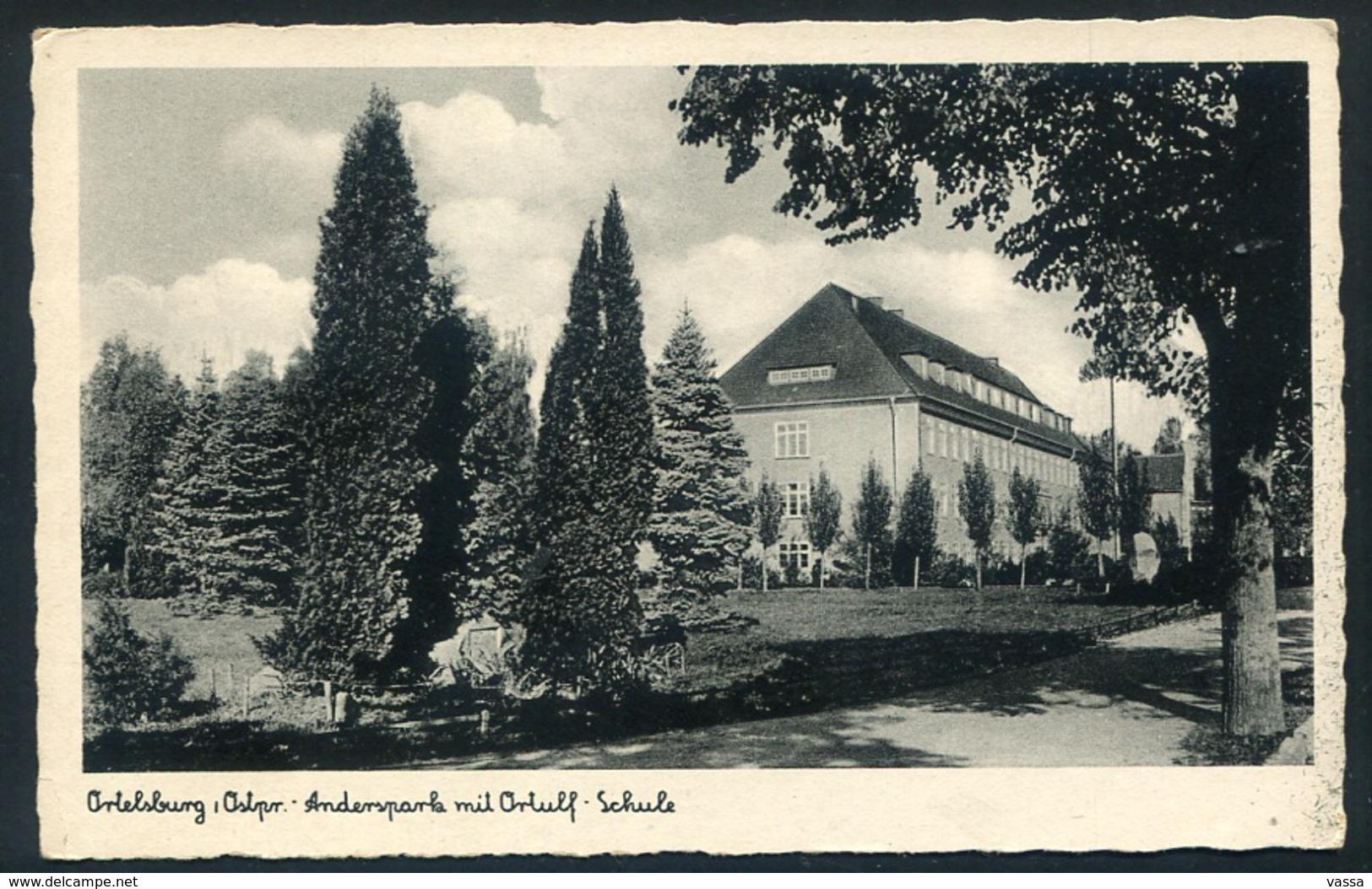 Szczytno Ortelsburg - Andersparla Mit Orluff - Schule -  Ostpreußen - Ungelaufen .Germany - Polen - Poland Church - Ostpreussen