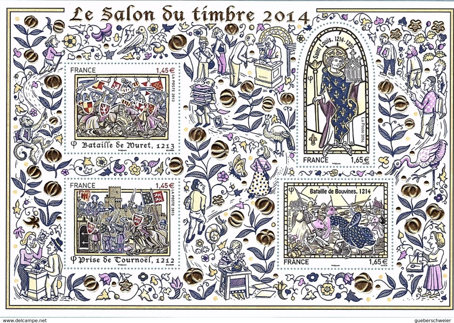 BF 135 - FRANCE Salon Du Timbre 2014 Les Grandes Heures De L'Histoire De France - Ungebraucht