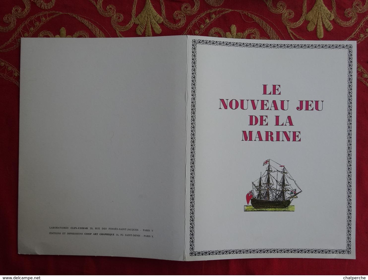 """JEU JEUX GENRE JEU DE L'OIE """" LE NOUVEAU JEU DE LA MARINE """" PUBLICITÉ PHARMACIE LABORATOIRES CLIN - COMAR - Autres"""