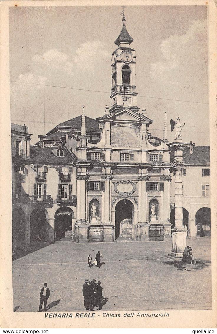 """0431 """"(TO) VENARIA REALE - CHIESA DELL'ANNUNZIATA"""" ANIMATA.  CART   SPED 1926 - Autres Villes"""