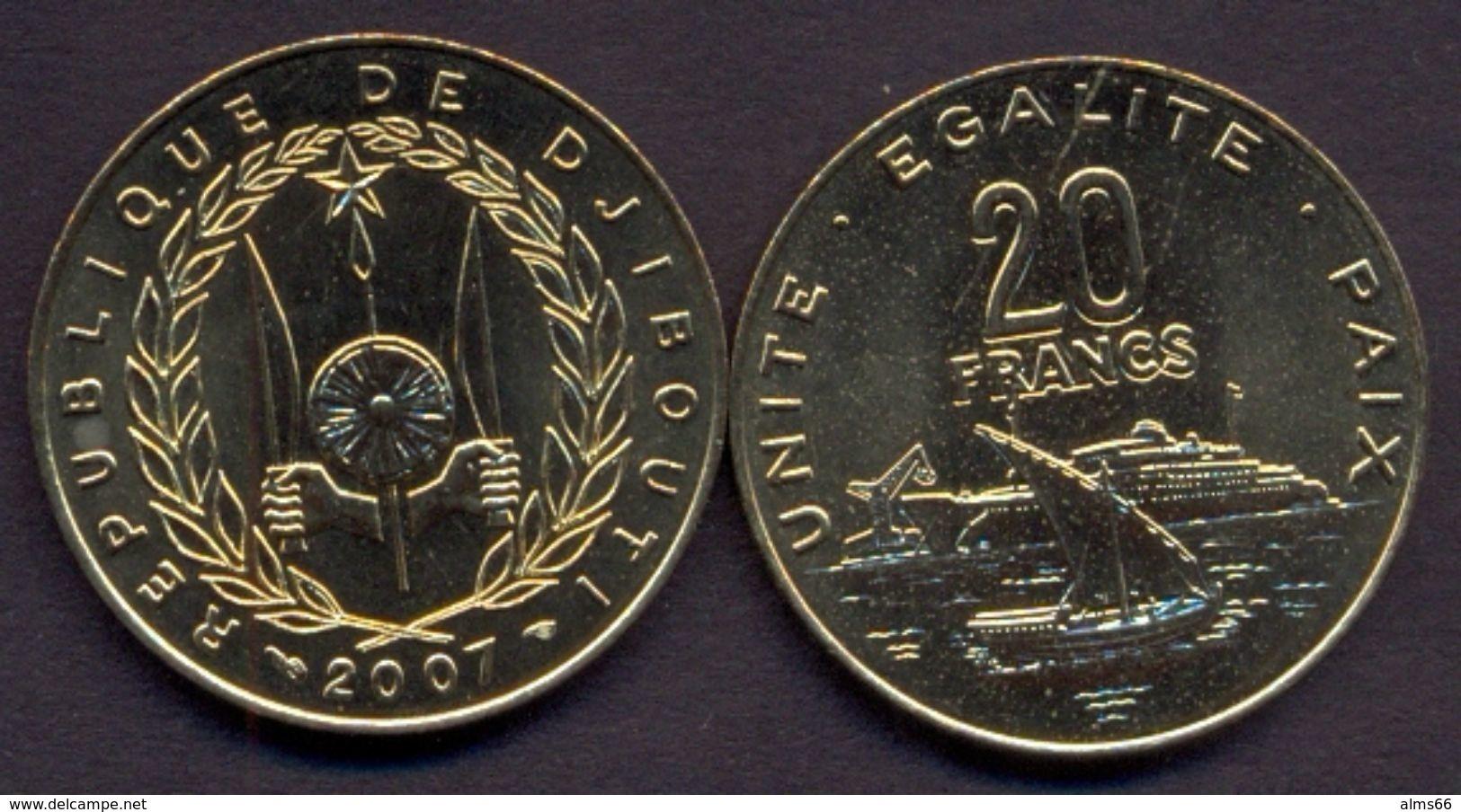 Djibouti 20 Franc 2007 UNC Ship - Djibouti
