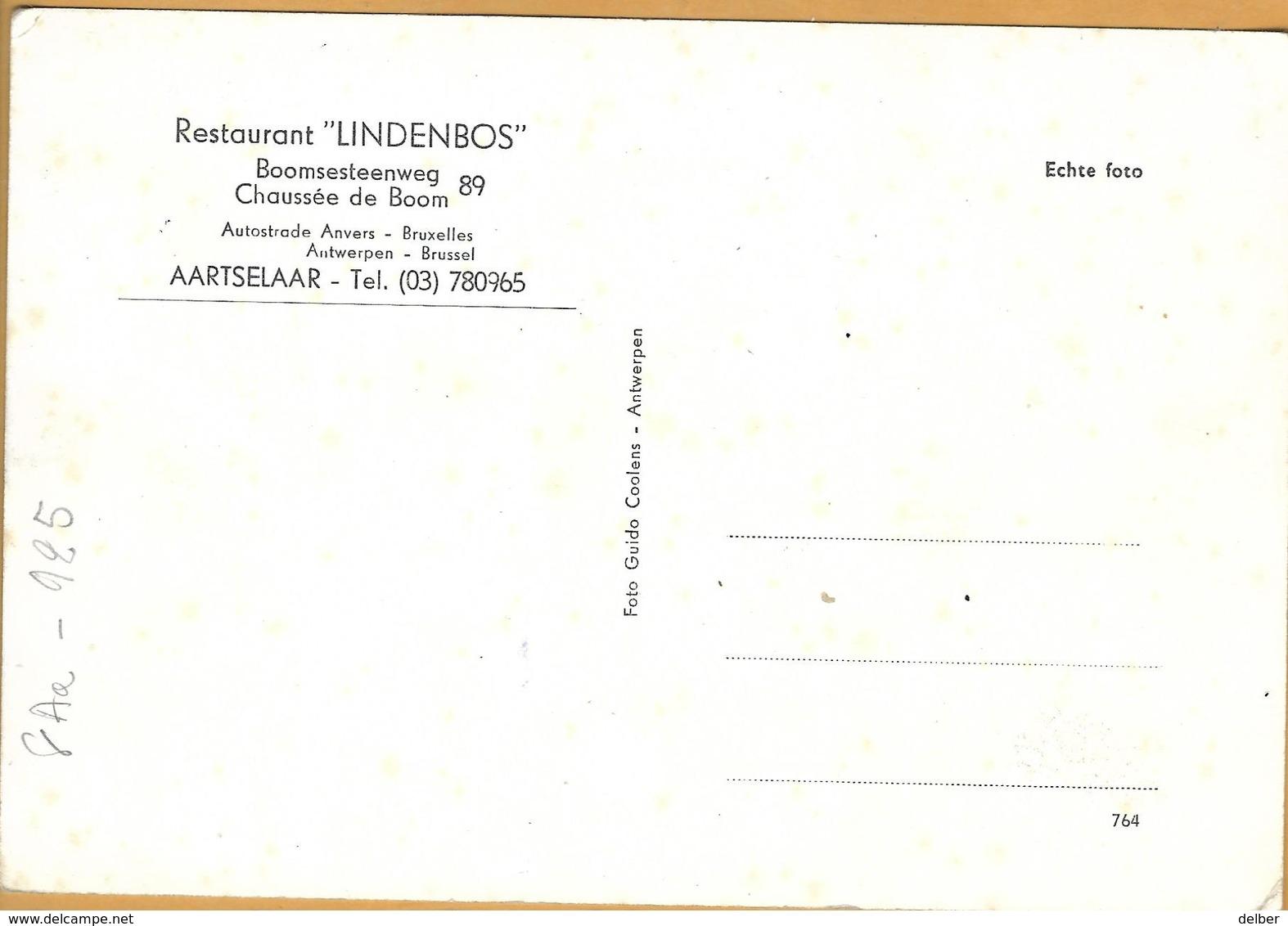 "8Aa-925:RESTAURANT ""LINDENBOS"" Aartselaar - Aartselaar"