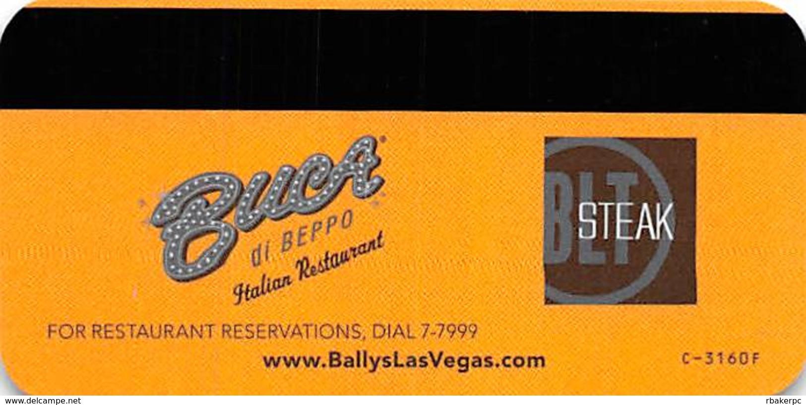 Bally's Casino - Las Vegas, NV - Hotel Room Key Card - Hotel Keycards