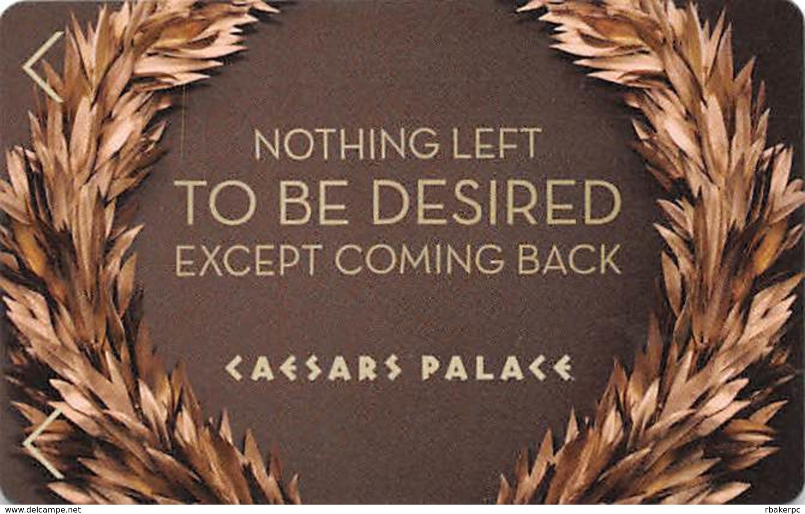 Caesars Palace Casino Las Vegas Hotel Room Key Card With C3-4146114 - Hotel Keycards
