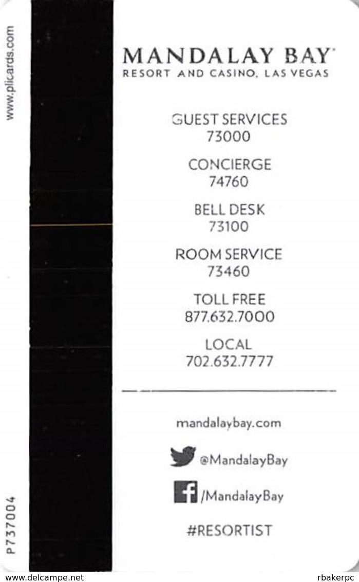 Mandalay Bay Casino - Las Vegas, NV - Hotel Room Key Card - Hotel Keycards