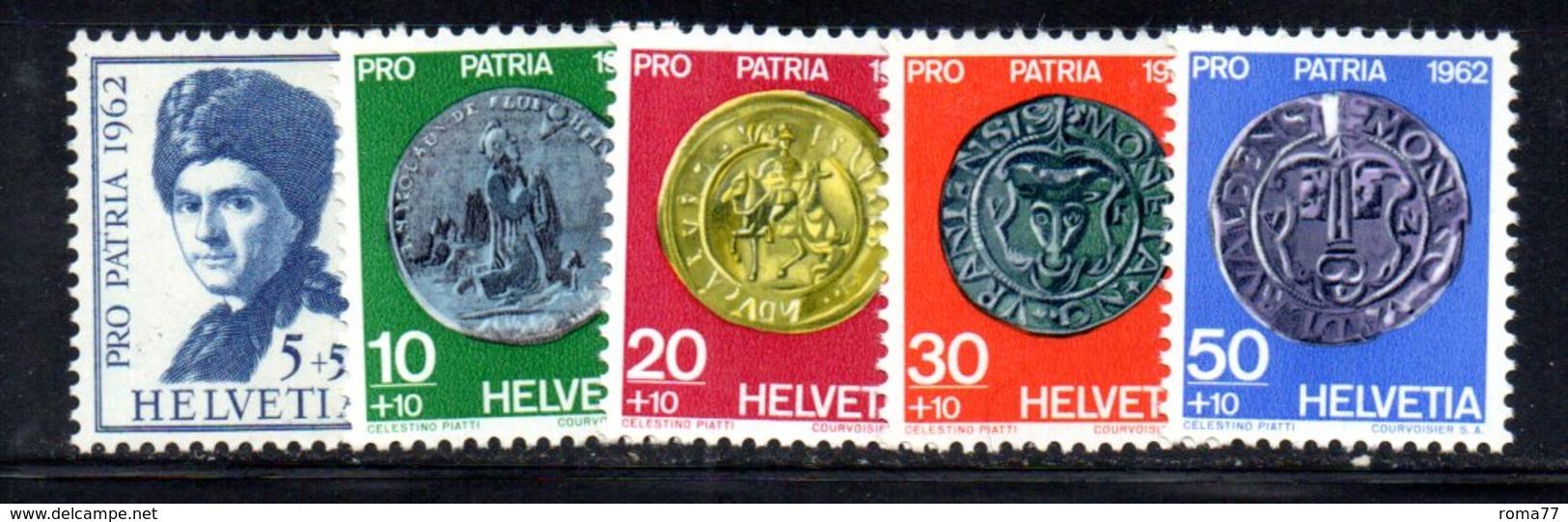 542/1500 - SVIZZERA 1962 ,  Unificato N. 693/697  ***  MNH  Pro Patria - Pro Patria