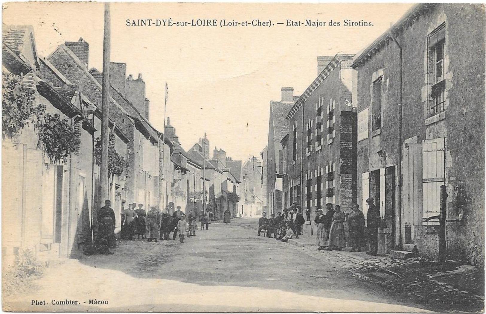 SAINT DYE SUR LOIRE - ETAT MAJOR DES SIROTINS - France