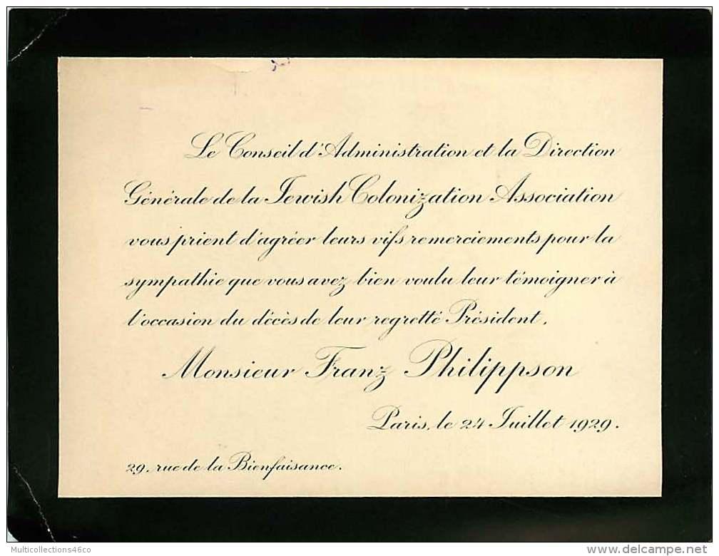 300918B - FAIRE PART DECES ANCIEN - Franz PHILIPPSON 1929 - Obituary Notices