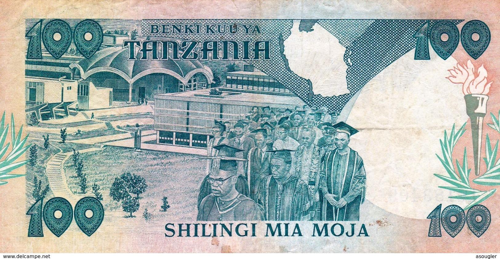 Tanzania 100 Shilingi ND 1986 VF-EXF P-14a  (free Shiping Via Regular Air Mail (buyer Risk) - Tanzanie