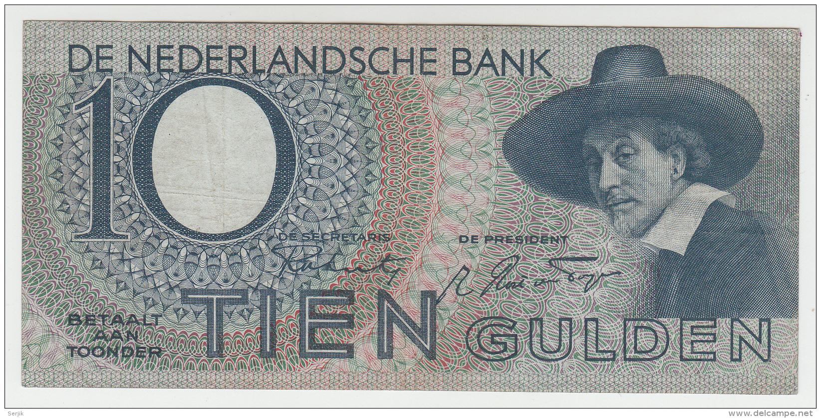 Netherlands 10 Gulden 1944 VF+ Pick 59 - [2] 1815-… : Kingdom Of The Netherlands