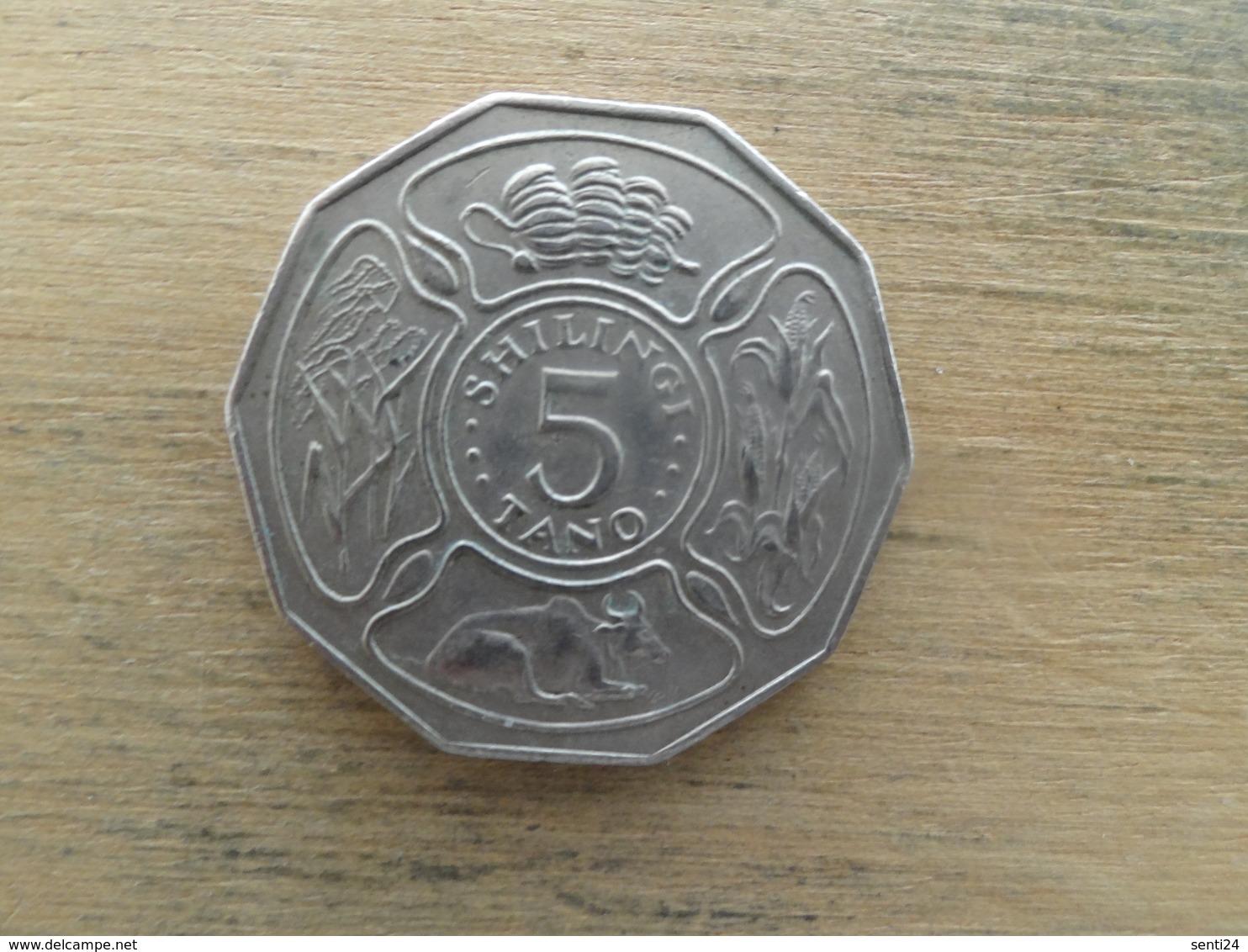 Tanzanie  5  Shillingi  1972  Km 6 - Tanzanie