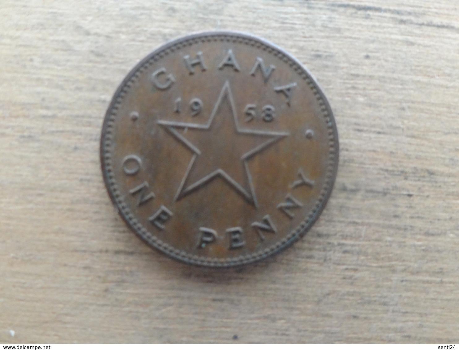 Ghana  1  Penny  1958  Km 2 - Ghana