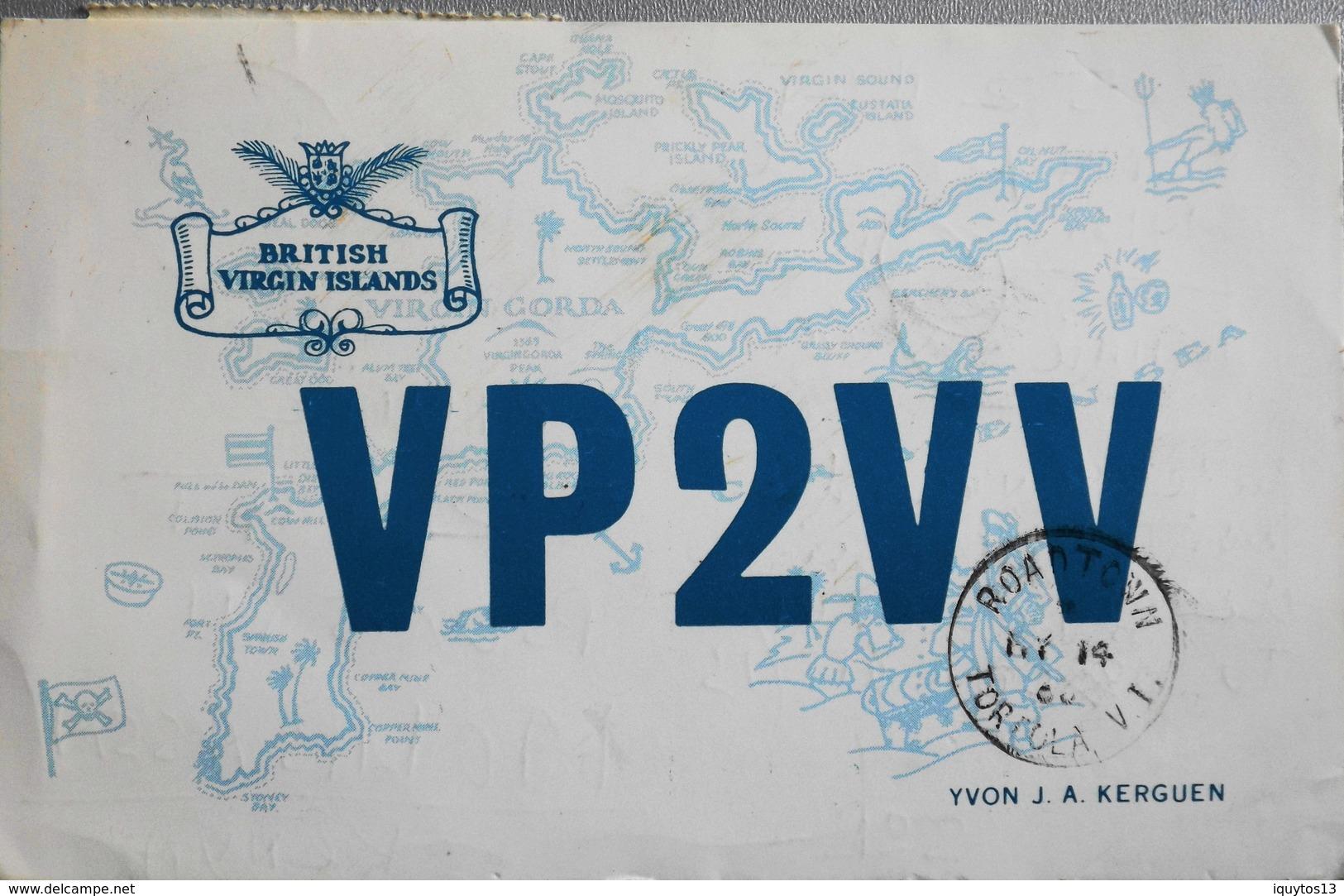 CP. Air Mail - Virgin Islands  Radio Amateur Telecommunication - LENNIE 524 GT - Tampon Virgin Gorda 1966 - TBE - Vierges (Iles), Britann.
