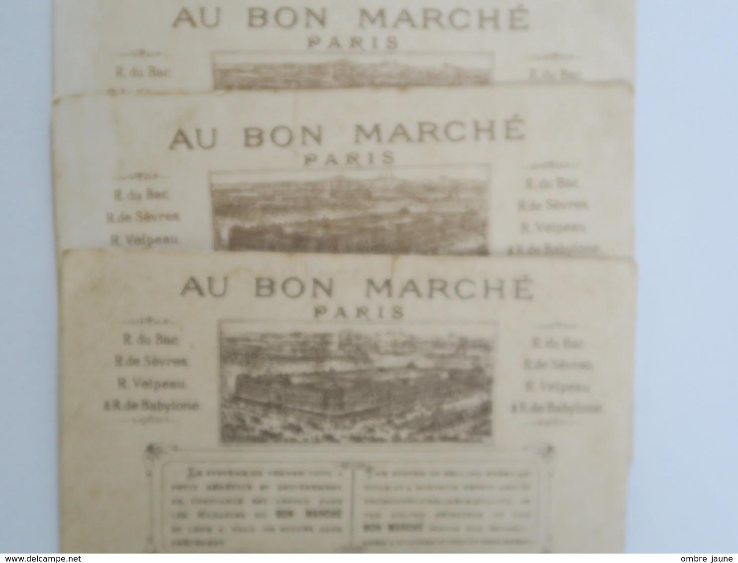 CH -   3 ChromoS - AU BON MARCHE - Malbrough - Le Petit Poucet - - Au Bon Marché