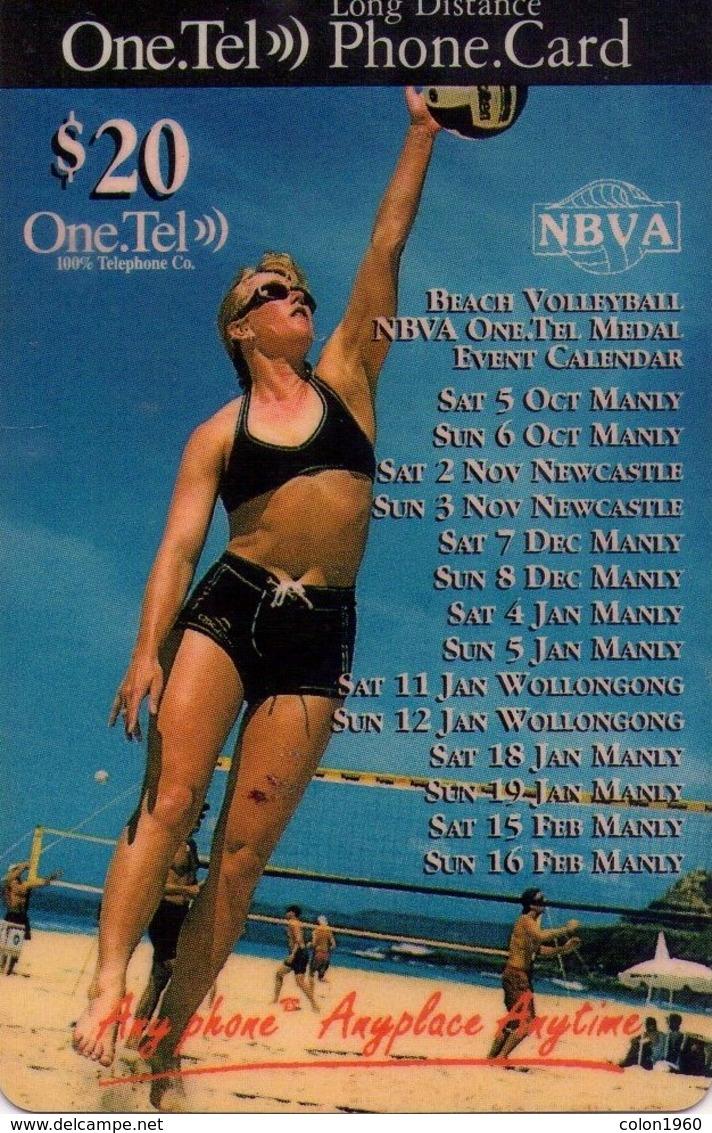 TARJETA TELEFONICA DE AUSTRALIA. (CHICAS) NBVA, BEACH VOLLEYBALL. (078) - Erótica (Adultos)