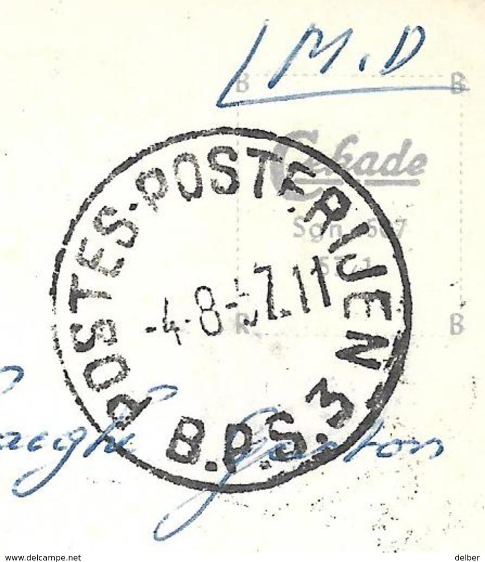 8Aa-895: POSTES-POSTERIJEN B.P.S 3. -4-8-57.11 > Zedelgem: Pk: Siegen I. W. Der Bergmann - Marcofilia