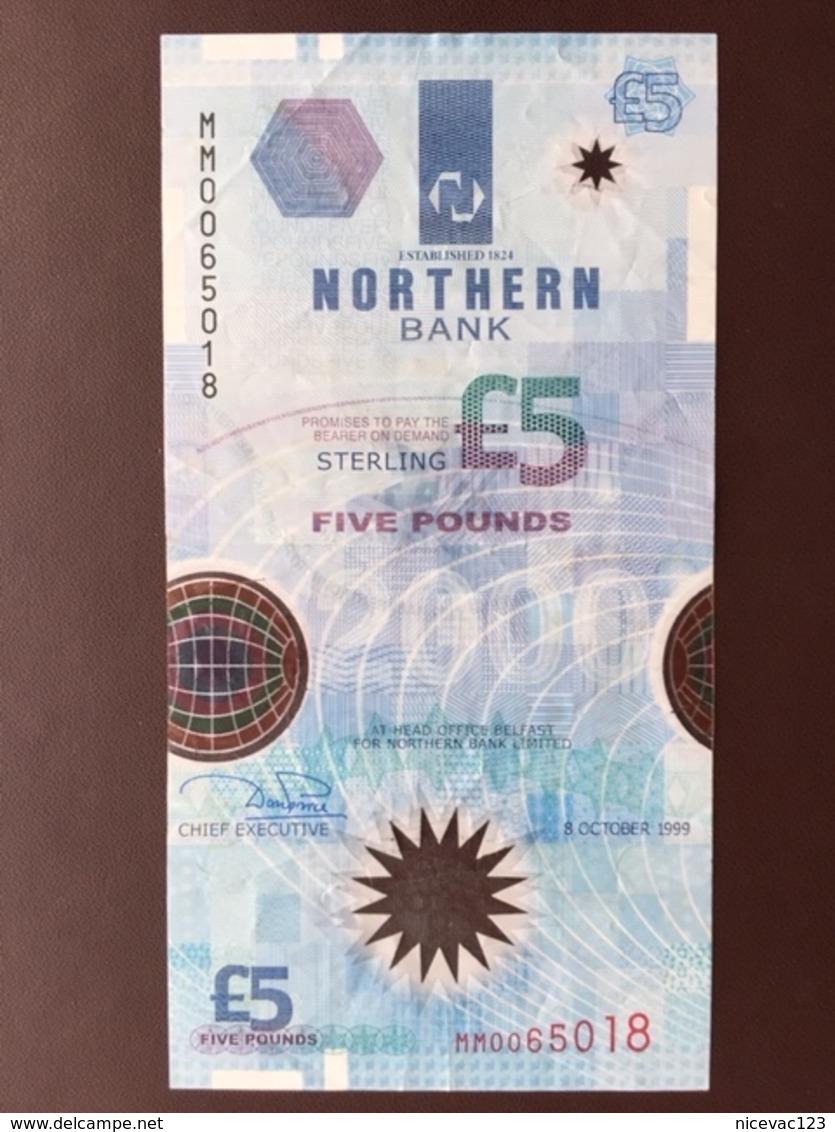 NORTHERN IRELAND P203A 5 POUNDS 1999 AUNC - Irlande Du Nord