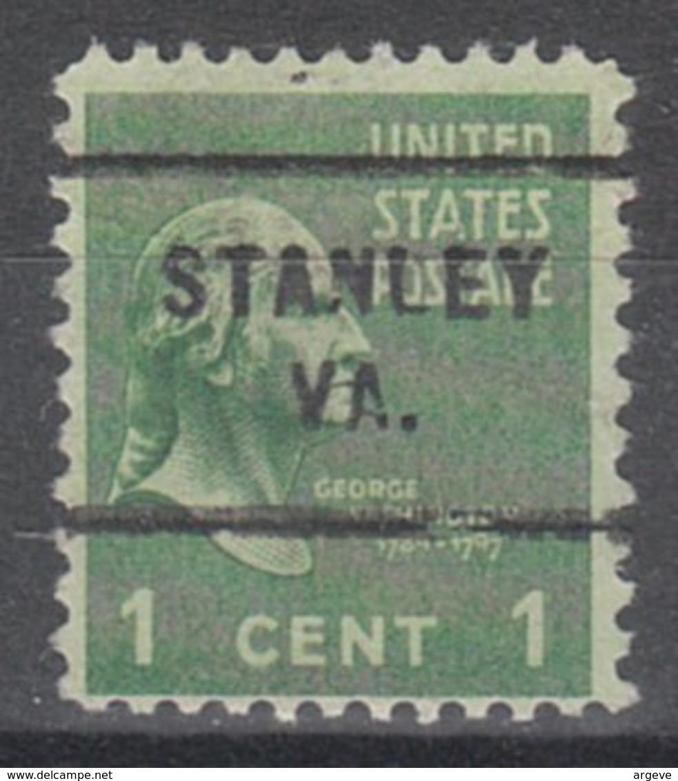 USA Precancel Vorausentwertung Preo, Locals Virginia, Stanley 712 - Vereinigte Staaten