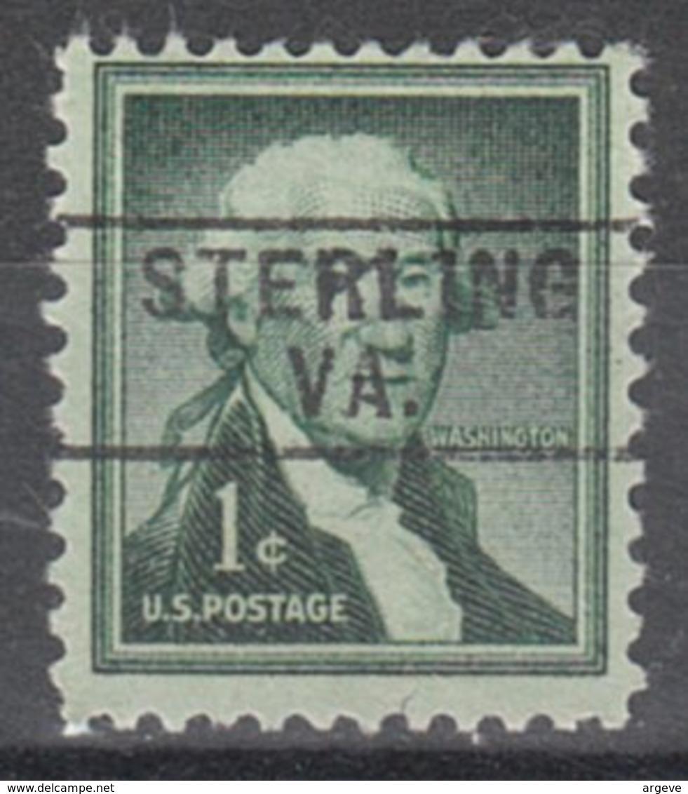 USA Precancel Vorausentwertung Preo, Locals Virginia, Sterling 745 - Vereinigte Staaten