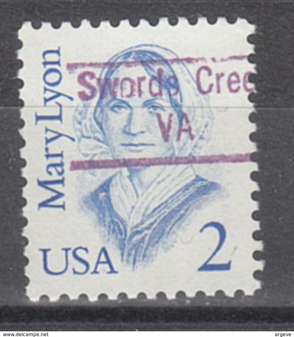 USA Precancel Vorausentwertung Preo, Locals Virginia, Sword Creek 843 - Vereinigte Staaten