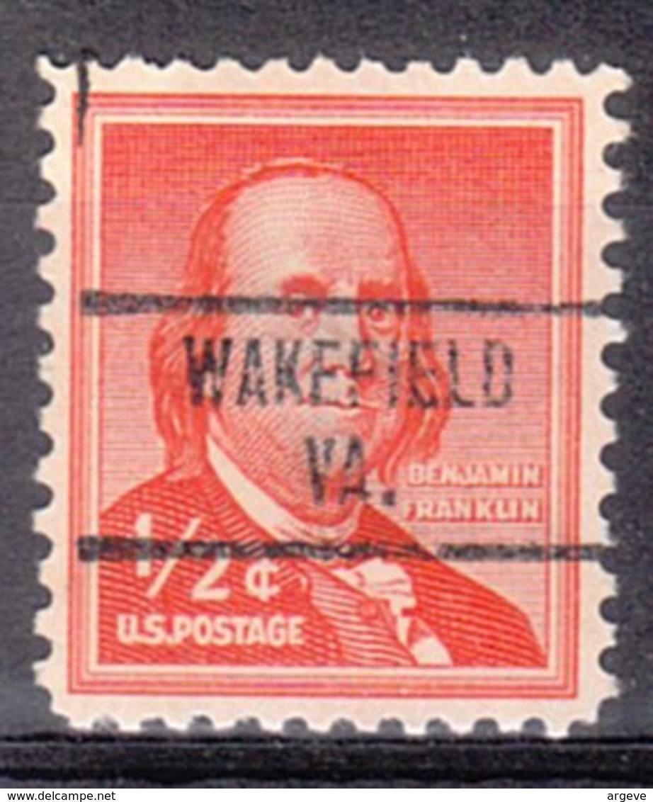 USA Precancel Vorausentwertung Preo, Locals Virginia, Wakefield 734 - Vereinigte Staaten