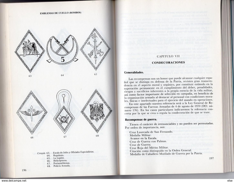 UNIFORMES CONTEMPORANEOS DEL EJERCITO ESPANOL  1977   298 PAGES - NOMBREUSES ILLUSTRATIONS ECRIT EN ESPAGNOL - Boeken