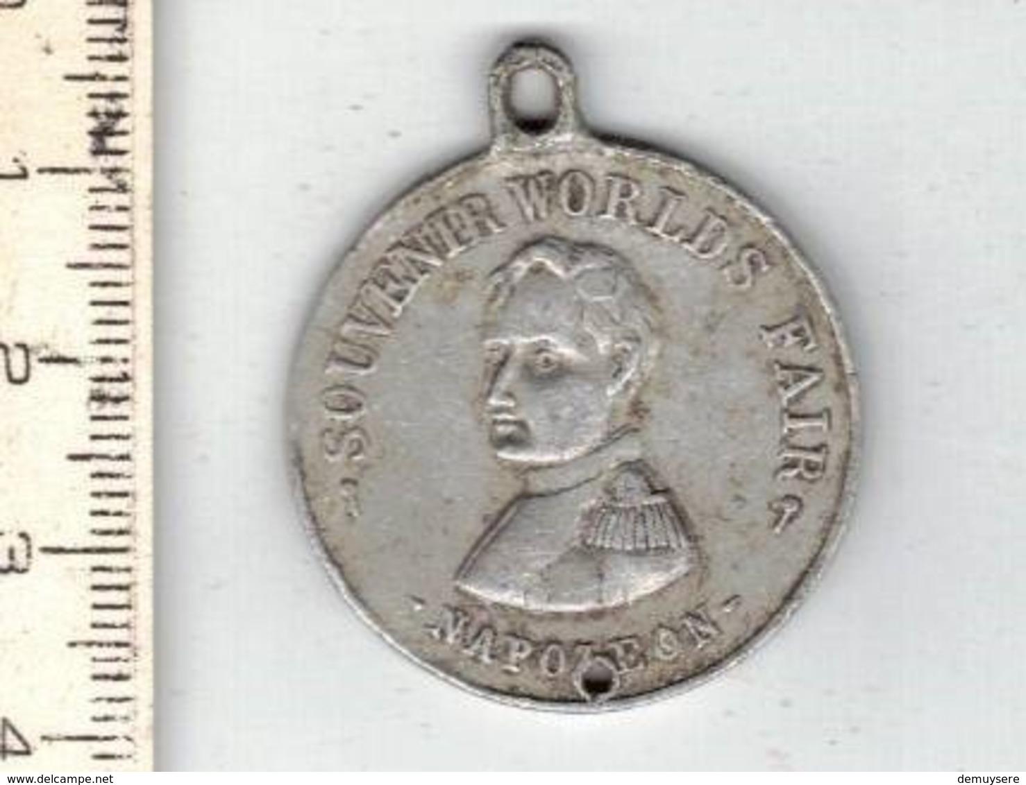 186 -  MEDAILLE - SOUVENIR WORLDS FAIR NAPOLEON - ST LOUIS 1904 - LEFFERSON - Belgium