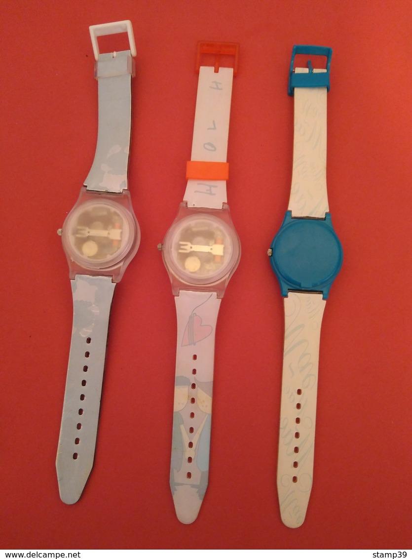Lot De Horloges De Montres Publicitaires De Collection - Montres Publicitaires