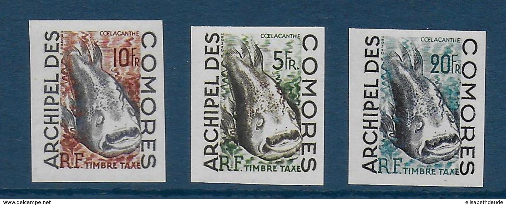 COMORES - TAXE YVERT N° 3/5 NON DENTELES ** / MNH - POISSONS - COTE = 30 EUR. - Comoro Islands (1950-1975)